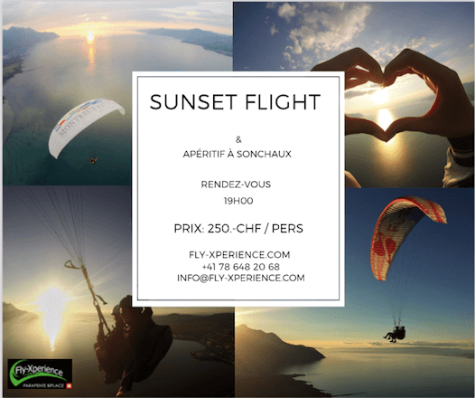 Sonnenuntergang & Paragliding