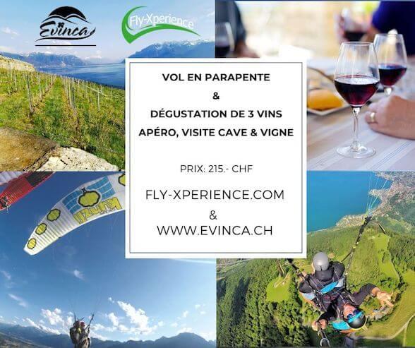 Parapente & Visite de vigne / Dégustation